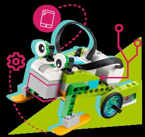Robot sapo con vectores decorativos
