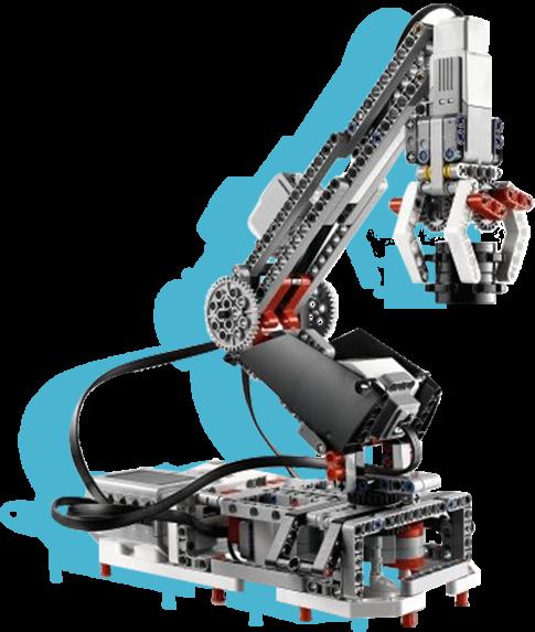 robot grua de legos