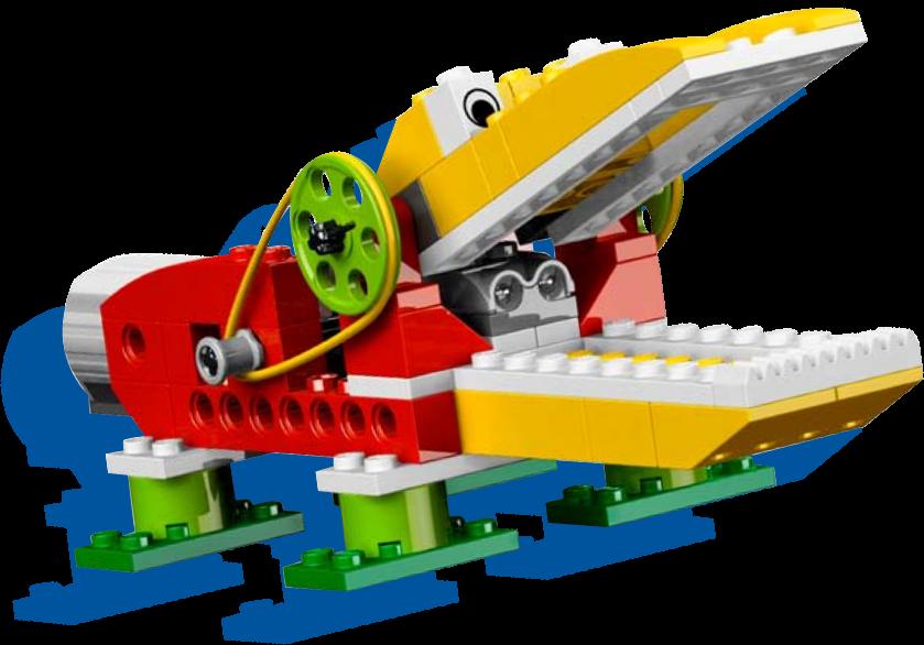 robot caiman de legos