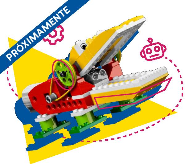 Robot caimán con vectores decorativos